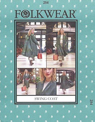 Folkwear 254 Swing Coat w/Back Yoke and Pleat XS-XLSewing Costume Pattern