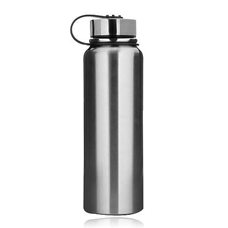 Taza de viaje de acero inoxidable, botella de agua con ...