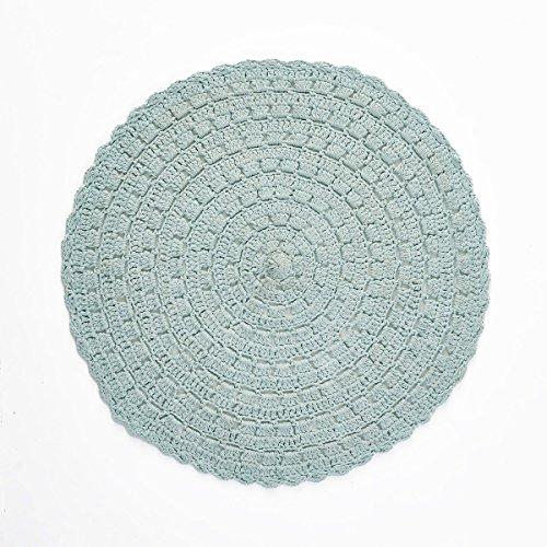 La Redoute Interieurs Wiku Round Crochet Rug Blue Size Diam 100 Designer Style Accent Chair