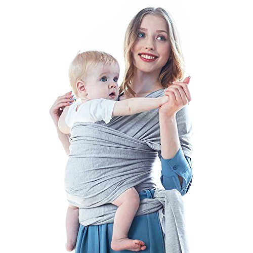 Aniwon Baby Wrap Carrier Baby Sling Infant Carrier Nursing Cover Baby Shower Gift for Infants Toddlers (Grey) by Aniwon