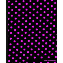 Polka Dot Notebook: Black and Pink Dots,Lined Notebook, 7.5 x 9.25, 100 pages for School / Teacher / Office / Artist / Student / Fashion Notebook
