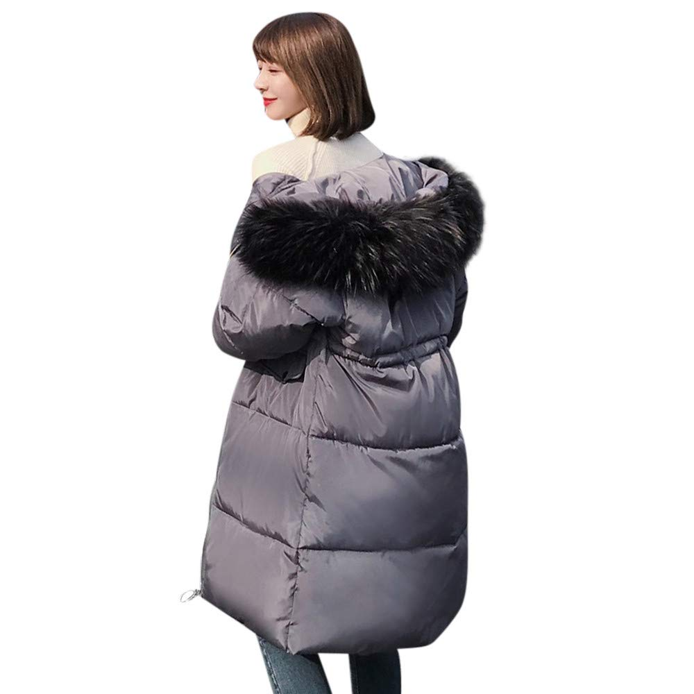 Seaintheson Women's Coats OUTERWEAR レディース B07HRF3JKL Medium|グレー グレー Medium