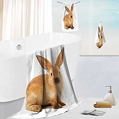 SOCOMIMI 3-Piece Luxury Hotel/Spa 100% Turkish Cotton Striped Towel Set rabbits isolated on white background Hand Towels and Washcloths
