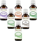 Essential Oil Set 6-30 ml. Therapeutic Grade 100% Pure Tea Tree, Lavender, Eucalyptus, Lemongrass, Peppermint & Sweet Orange. for Skin, Body and Aromatherapy Diffuser