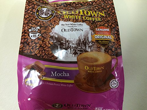 Malaysia OLD Town (3 in 1) - Taste Premix Mocha Coffee- Don't Need Creamer & Sugar -Make Your Life Easier - 15 Sticks Total--- (Mocha Coffee) (Mocha 1)