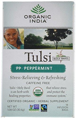 Organic India Tulsi Tea Peppermint - 18 Tea Bags