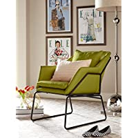 Elle Decor CHRODIPSTL01 Décor Odile Accent Chair, Pistachio