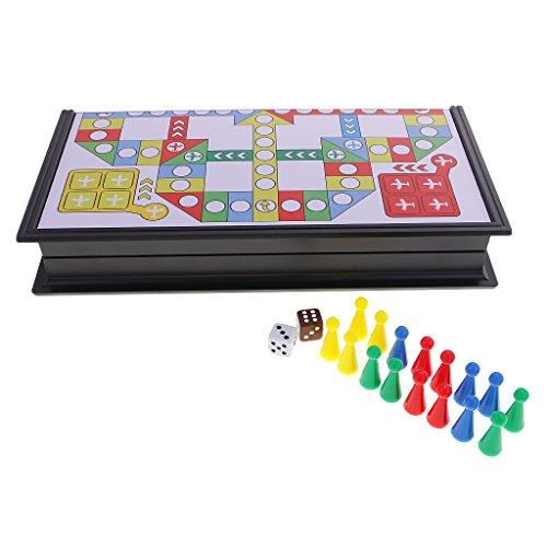 Jiliオンラインポータブル旅行Flyingチェスセット磁気折りたたみボードwith pieces dice for Children Kids Toyの商品画像