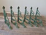 6 CAST Iron Mermaid Nautical Shelf Brackets