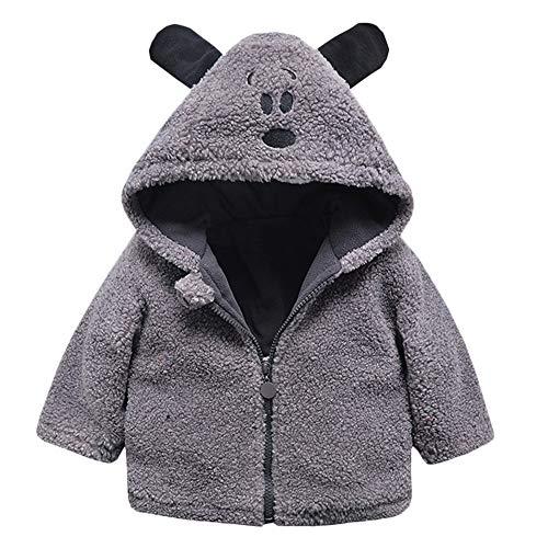 Londony Clearance Sales,Unisex Little Baby Boys Girls Coat Winter Warm Fleece Bear Jacket Zip Up Outwear