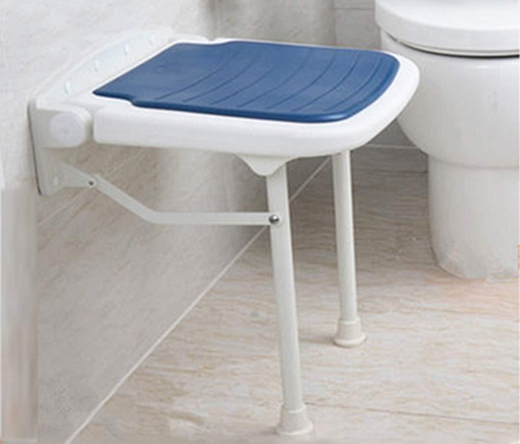 バススツール シャワースツール折りたたみチェアバスルーム調節可能なスツール折りたたみスツールバスルームベンチウォールベンチウォールチェア椅子ベンチ(ブルーシート付) B07GLSKV4S