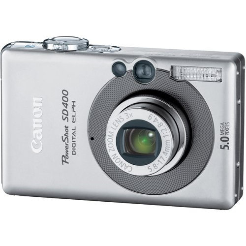 Amazon.com : Canon Powershot SD400 5MP Digital Elph Camera with 3x ...