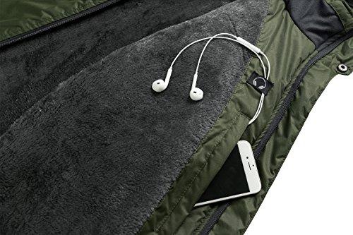 Lega Men s Outdoor Waterproof Mountain Jacket Fleece Windproof Ski Jacket(Army  Green L) b76304dd2