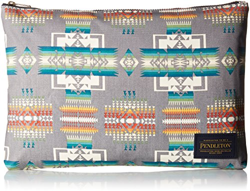 Pendleton Women's Canopy Canvas Big Zip Pouch Accessory, -Chief Joseph Grey, One - Pendleton X