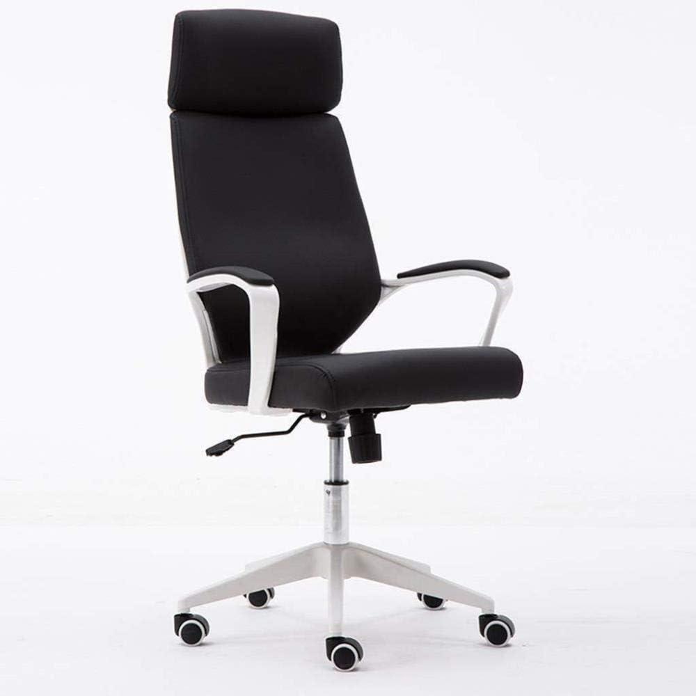 Asiento de la silla giratoria de oficina silla- Gaming silla de la cocina Taburetes de belleza taburete giratorio Tarea silla con el tractor, Presidente estático con altura ajustable (Color: Negro, Ta