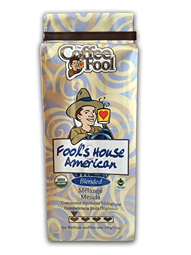 The Coffee Fool Fool's Organic Fair Trade House American, Coarse Grind, 12 Ounce ()