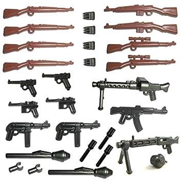 Gun City Soldiers Lego Minifigure Sniper Rifle X2 Weapon Star Wars