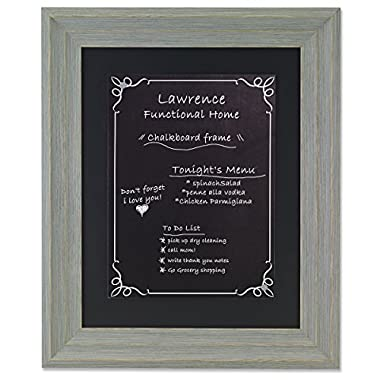 Lawrence Frames Weathered Decorative Chalkboard Frame with Magnet Board, 11 x 14 , Gray