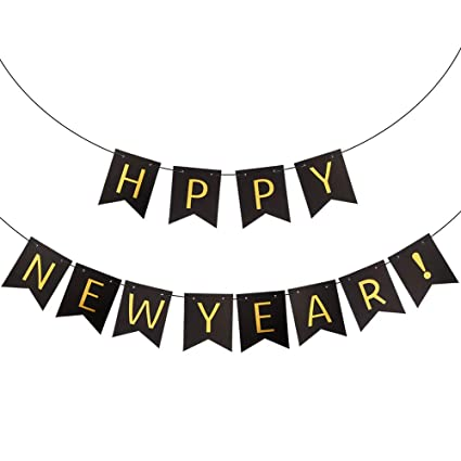 new year banner happy new year decorations for new years eve party supplies