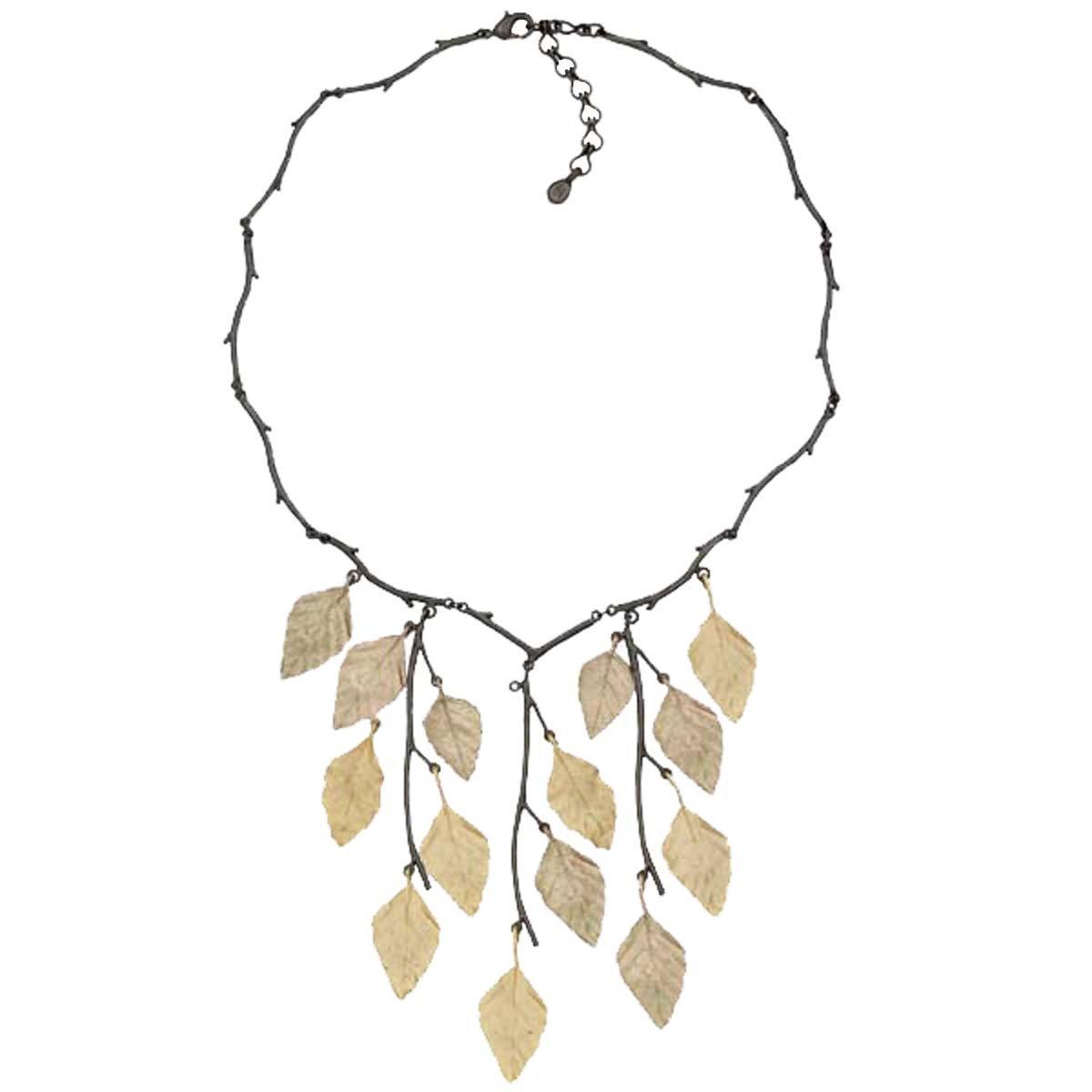 ''Autumn Birch'' Bib Necklace By Michael Michaud for Silver Seasons... by Michael Michaud