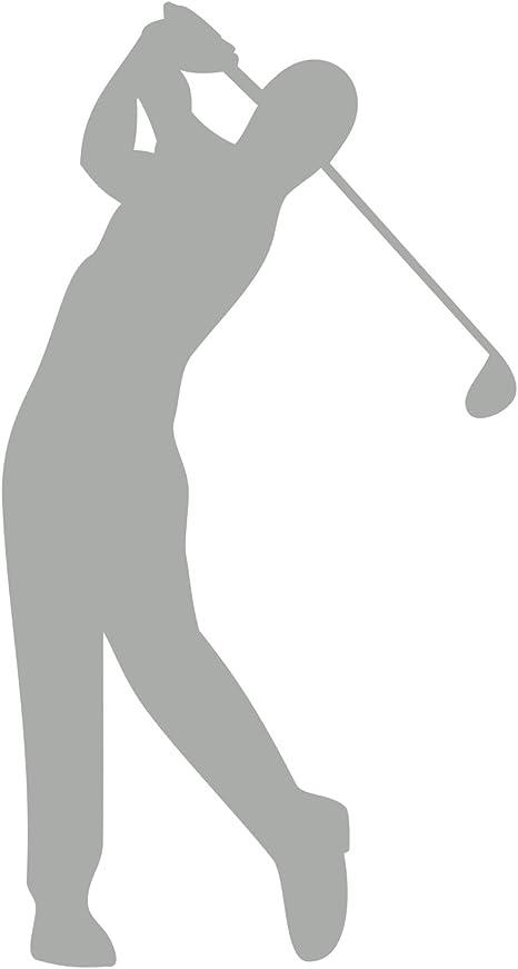 Golfspieler Aufkleber Golfer Golf Sport Autoaufkleber Silber Auto