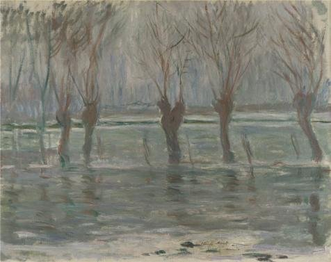 Oil Painting 'Flood Waters,1896 By Claude Monet', 20 x 25 inch / 51 x 64 cm , on High Definition HD canvas prints is for Gifts And Home Theater, Laundry Room And Powder Room (Costume Rental Tampa)