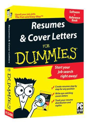 Resumes and cover letters for dummies 0881362040053 for For dummies template book cover