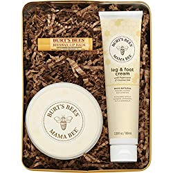 Pamper and condition her skin with Burt's Bees Mama Bee Gift Set. This 3 piece gift for her includes Belly Butter to gently nourish mama's stretched skin; Leg & Foot Creme to soothe her legs and feet; and Beeswax Lip Balm to replenish dry lips. T...