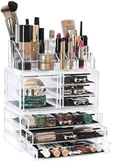 4a2b3af6ba39 LaRoc Clear Acrylic Cosmetic Organiser with Drawers Makeup Jewelry ...