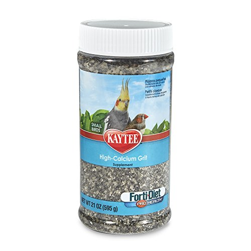 Cockatiel Gravel (Kaytee Forti-Diet Pro Health Hi-Calcium Grit for Small Birds, 21-oz jar)