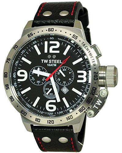 f26c8ce0edc TW Steel Canteen 50mm Black Dial Chronograph Mens Watch TW11  Amazon.ca   Watches