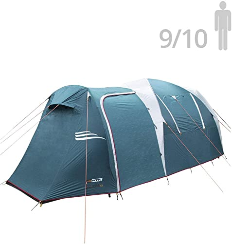 NTK Arizona GT 9 to 10 Person 17.4 by 8 Foot Sport Camping Tent 100 Waterproof 2500mm Tent