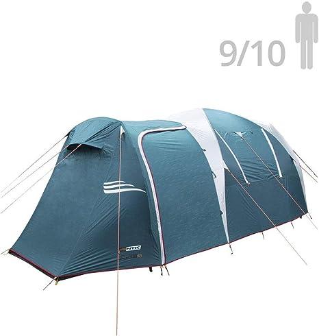 NTK Tienda de Campaña Resistente 100% Impermeable para 9 a 10 Personas (2 Habitaciones) Acampada al Aire Libre y Senderismo Tamaño Familiar 530 x 245 x 205 cm - Arizona GT 9/10: Amazon.es: Deportes y aire libre