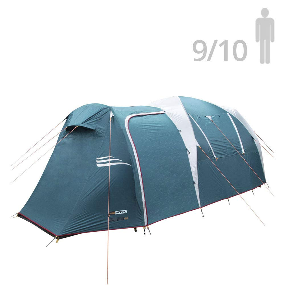 NTK Arizona GT 9 to 10 Person 17.4 by 8 Foot Sport Camping Tent 100% Waterproof 2500mm Tent by NTK
