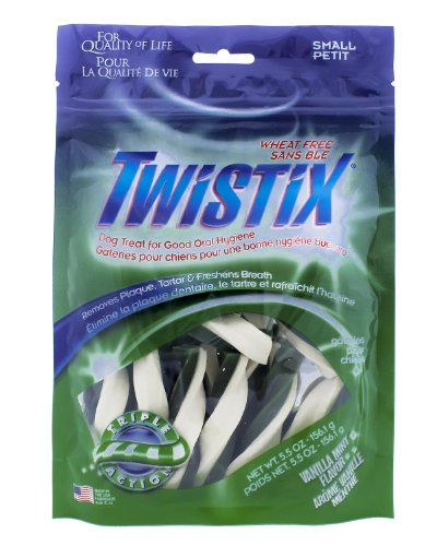 Twistix 5.5-Ounce Original Dental Chew Treats for Dogs, Small, Vanilla Mint Flavor (Mint Rawhide Dental)