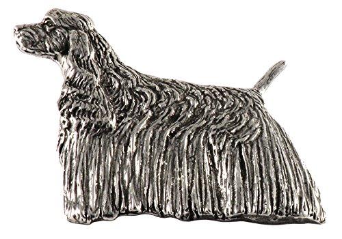 American Cocker Spaniel Dog Pewter Lapel Pin, Brooch, Jewelry, D308F