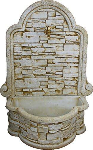 DEGARDEN Fuente Pared Mural Lajada de hormigón-Piedra Exterior jardín 70X50X117cm.: Amazon.es: Jardín