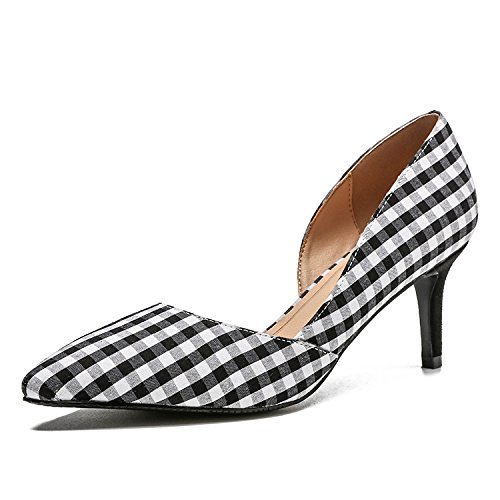 Ruanlei@Sexy de Tacones Altos/Clásicas Tacones Altos/fashion - Cerrado Mujer/Tacones de Charol ElegantesCasual elegante y versátil bajo y zapatos de mujer black