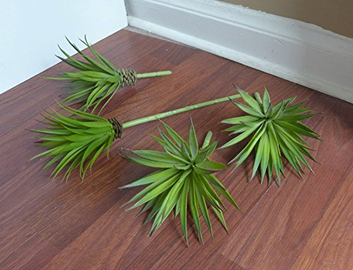 green 4 Mini Agave Grasses Artificial Tequila unkillable Succulents Plants