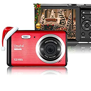 Vmotal 12 Mega Pixels 2.8 inch LCD Rechargeable HD Digital Camera,Video Camera Digital Students Cameras,Indoor Outdoor for Adult/Seniors/Kids (Red)