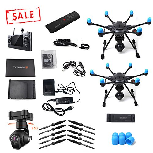 Yuneec-Typhoon-H-with-Wizard-controller-and-TWO-drone-bundle-Full-drone-bare-Typhoon-H