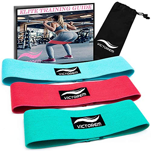 Exercise Bands Hips: VICTOREM Booty Resistance Workout Hip Exercise Bands