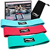 Victorem Booty Resistance Workout Hip Exercise Bands – Fitness Loop Circle Exercise Legs and Butt - Activate Glutes and Thighs – Thick, Wide, Cloth Bootie Training and Lifting Women's 80 Day Obsession
