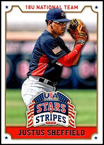 2015 Panini Stars and Stripes #52 Justus Sheffield NM-MT USA Baseball 18U National Team