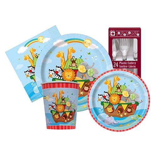 Noah Ark Baby Unisex Themed Shower Party Supply Kit Serves 8