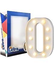 DON LETRA Letras Luminosas Decorativas con Luces LED, Letras del Alfabeto A-Z, Decoración para el Hogar, Altura de 22cm, Color Blanco