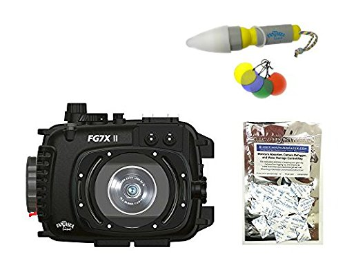 Fantasea FG7X II Housing for Canon G7 X Mark II w/Moisture Absorbers & Nano Diving Torch