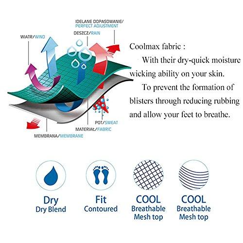 Dri-Fit Running Socks, FOOTPLUS Unisex COOLMAX Low Cut Socks 3,4,6 Pairs