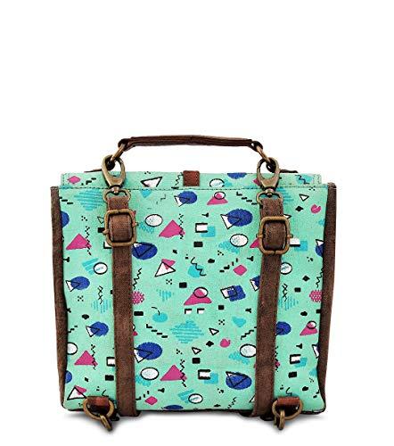 Crossbody handbag Work Design by Shoulder Sling Trims Leather Vintage Trendy Canvas Daphne Purse Travel Hobo Messenger d5pAWd