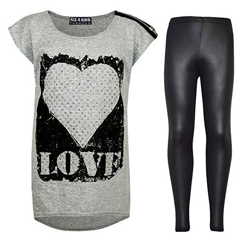Moderno 4 A2z Look Chicas Top 11 os Ni 10 Moda Set os Legging Edad 13 Wet Impreso os a 8 7 9 Ni Amor 12 y pqxdq8